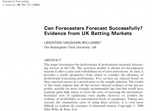 Journal of Forecasting, 19(6): 505-513