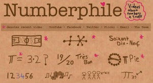 Screen capture of Numberphile web site (captured 24 Mar 2013)