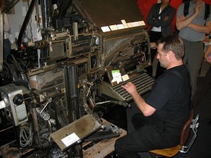 Typesetting Machine: Frankfurt Book Fair 2005 by Harald Kucharek, Karlsruhe (downloaded from Google (5 Apr 2013): Labeled as free to reuse)