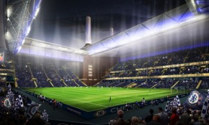 Chelsea have produced artist's impressions of how a new stadium at Battersea Power Station would look. Photograph: Chelsea/PA (19 Jun 2013: downloaded via Google where the image was labeled as free to reuse)