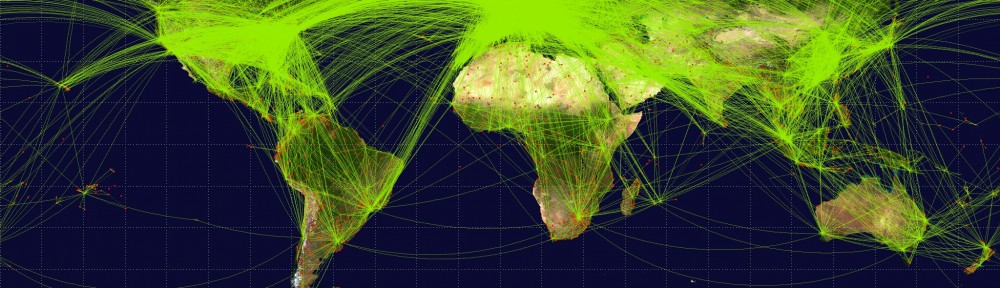 World Airline Route Maps: Downloaded from Google (22 Dec 2013, labaled as free to reuse) – URL: http://en.wikipedia.org/wiki/File:World-airline-routemap-2009.png